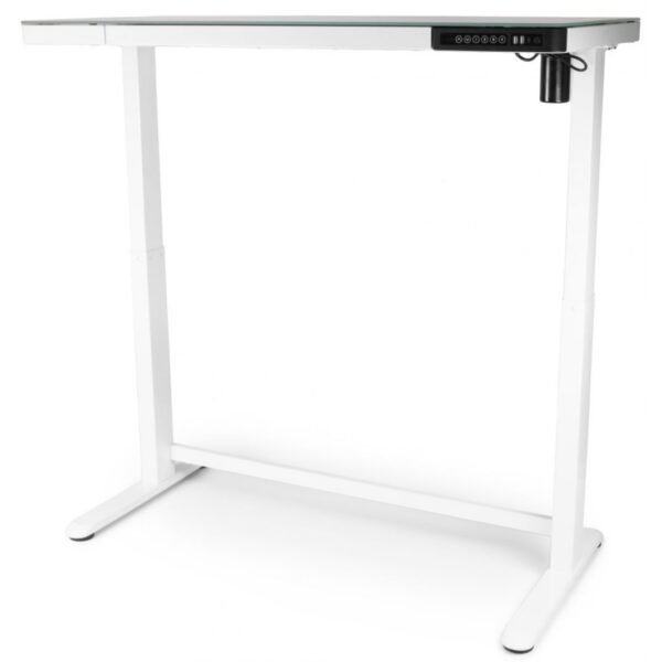 Регулируемый стол Barsky StandUp Memory white glass 1200*600